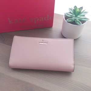 Blush Kate Spade leather wallet